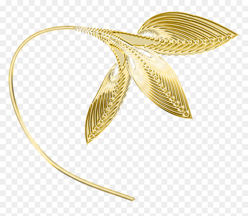 Gold Decorative Leaves Png Clipart Gold Leaves Transparent Background Png Download Vhv
