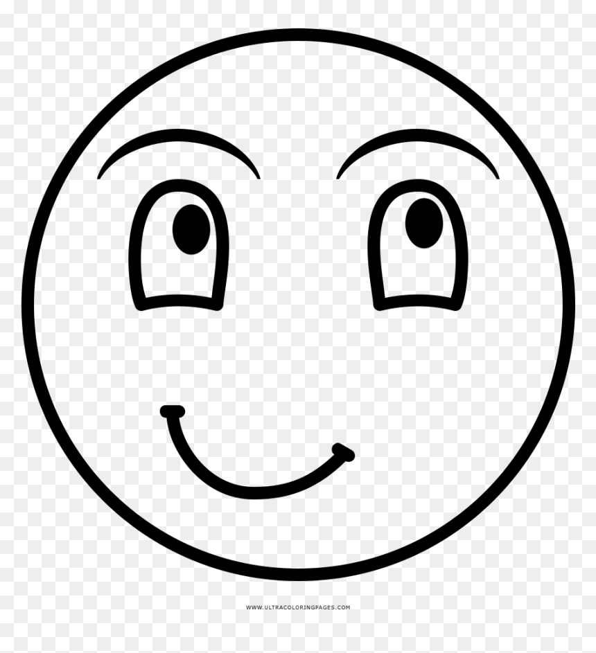 - Laughing Face Coloring Page - Smiley, HD Png Download - Vhv