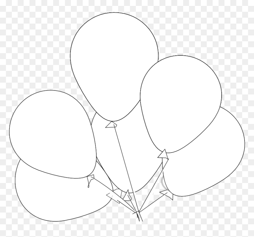 Vector Library Clipartist Net Clip Art Black Line Svg White Balloons With Black Background Clipart Hd Png Download Vhv