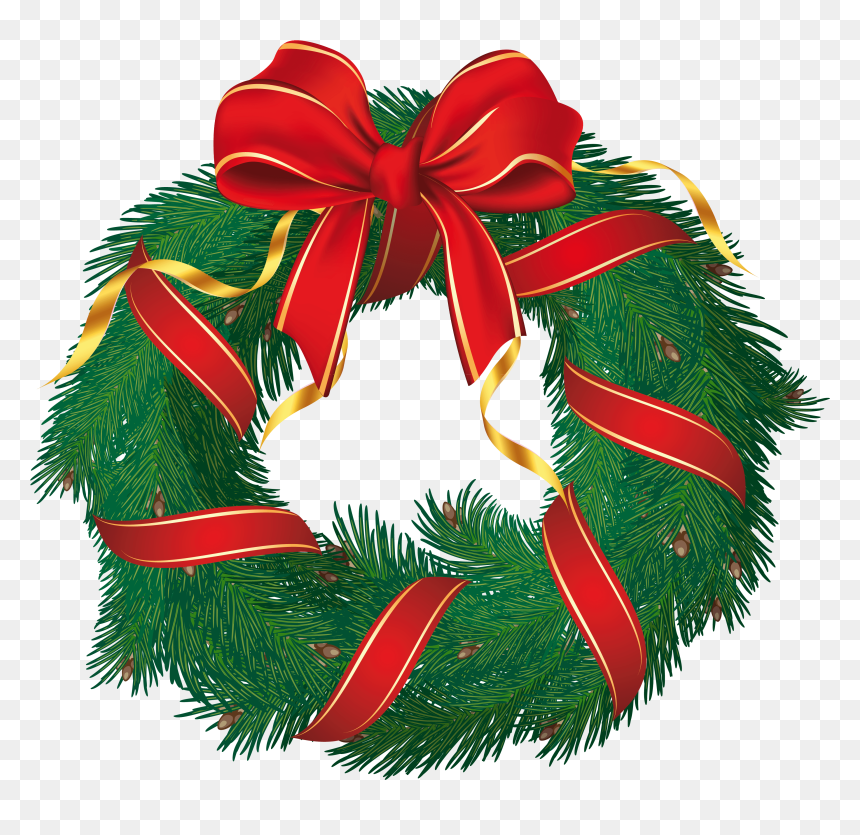 Wreath Christmas Clipart Christmas Wreath Clipart Free Hd Png Download Vhv