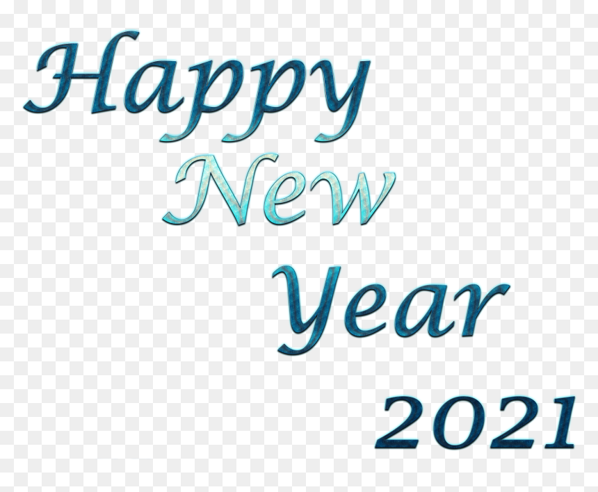 Happy New Year 2021 Transparent Background Calligraphy Hd Png Download Vhv