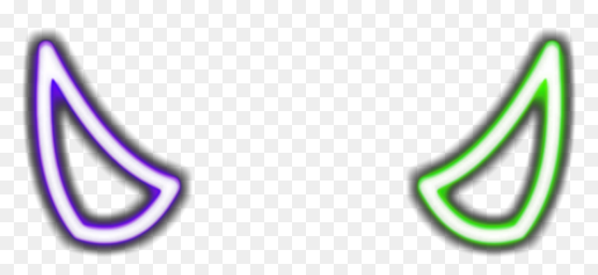 Freetoedit Horns Purple Horn Devil Green Neon Neon Devil Horns Png Transparent Png Vhv