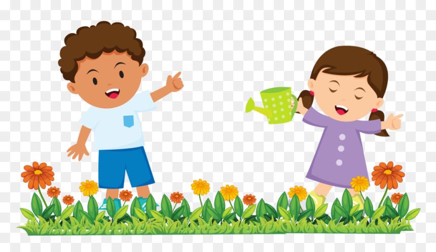 Gardening 25 Cartoon Kids Gardening Png Transparent Png Vhv
