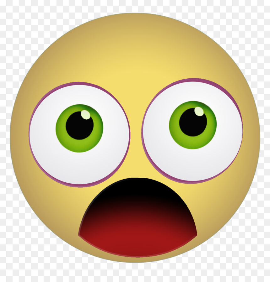 Graphic Emoticon Smiley Scared Shocked Yellow Emoji Gif Transparent Background Hd Png Download Vhv