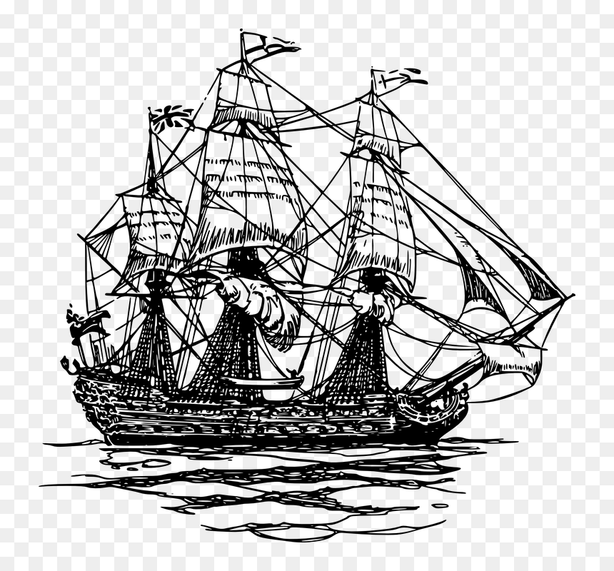 Pirate Ship Drawing Png Transparent Png Vhv