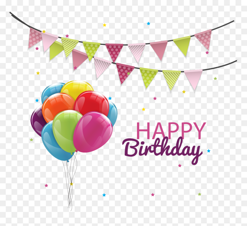 Birthday Cake Balloon Party Vector Birthday Balloons Png Transparent Png Vhv Colorful flying balloons and happy birthday text. birthday cake balloon party vector