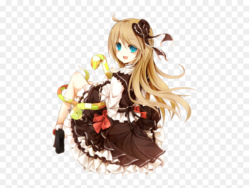 Anime Girl With Blue Eyes And Brown Hair Transparent Hd Png