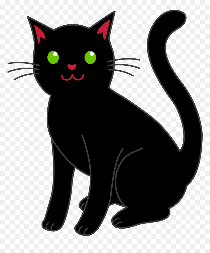 Clipart Black Cat Clip Art Free Stock Simple Black Halloween Black Cat Clipart Hd Png Download Vhv
