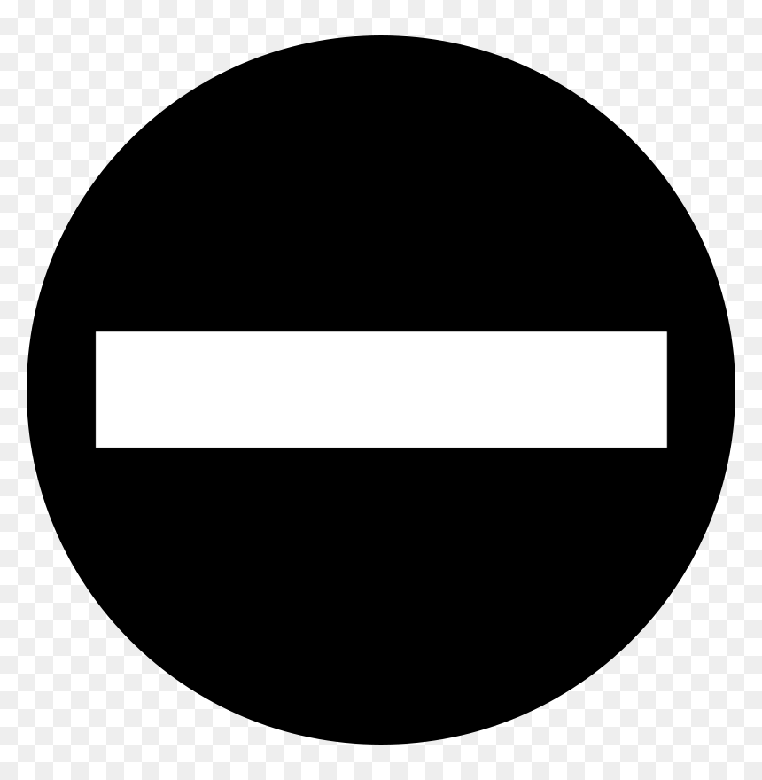 No Entry Sign Black And White Hd Png