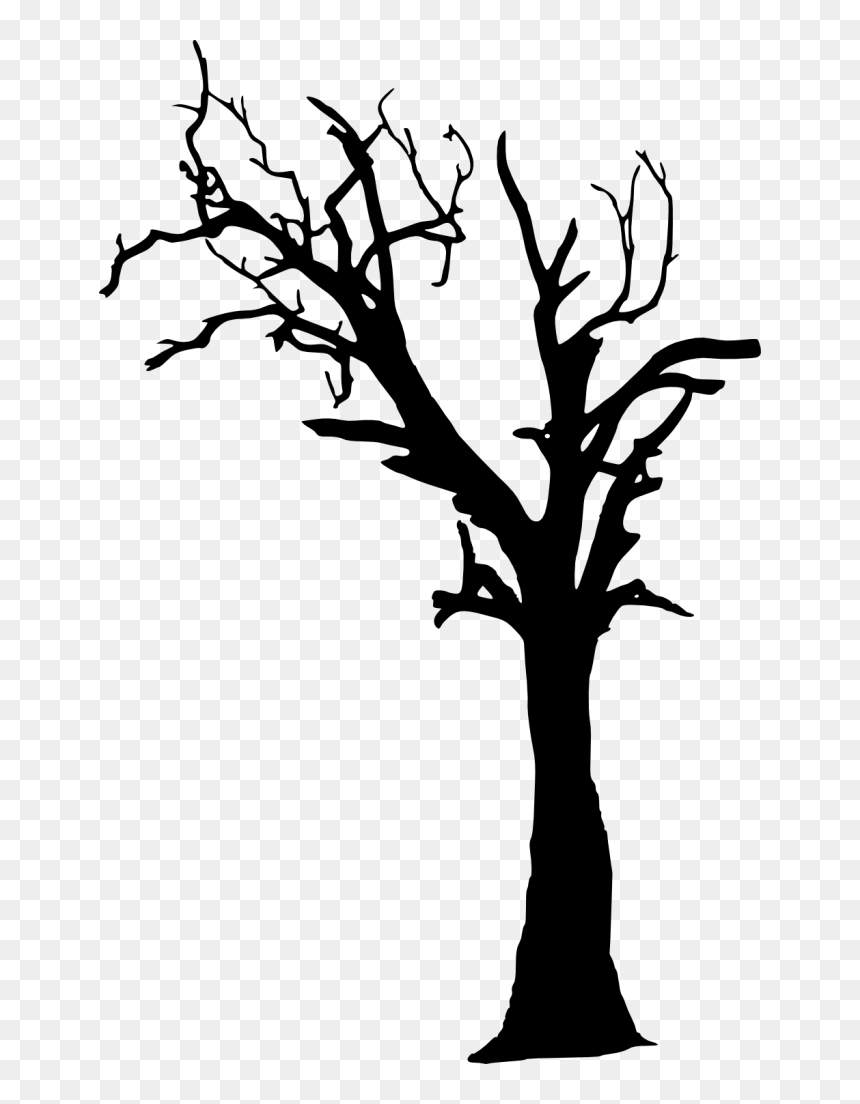 Transparent Creepy Tree Silhouette Png Png Download Vhv