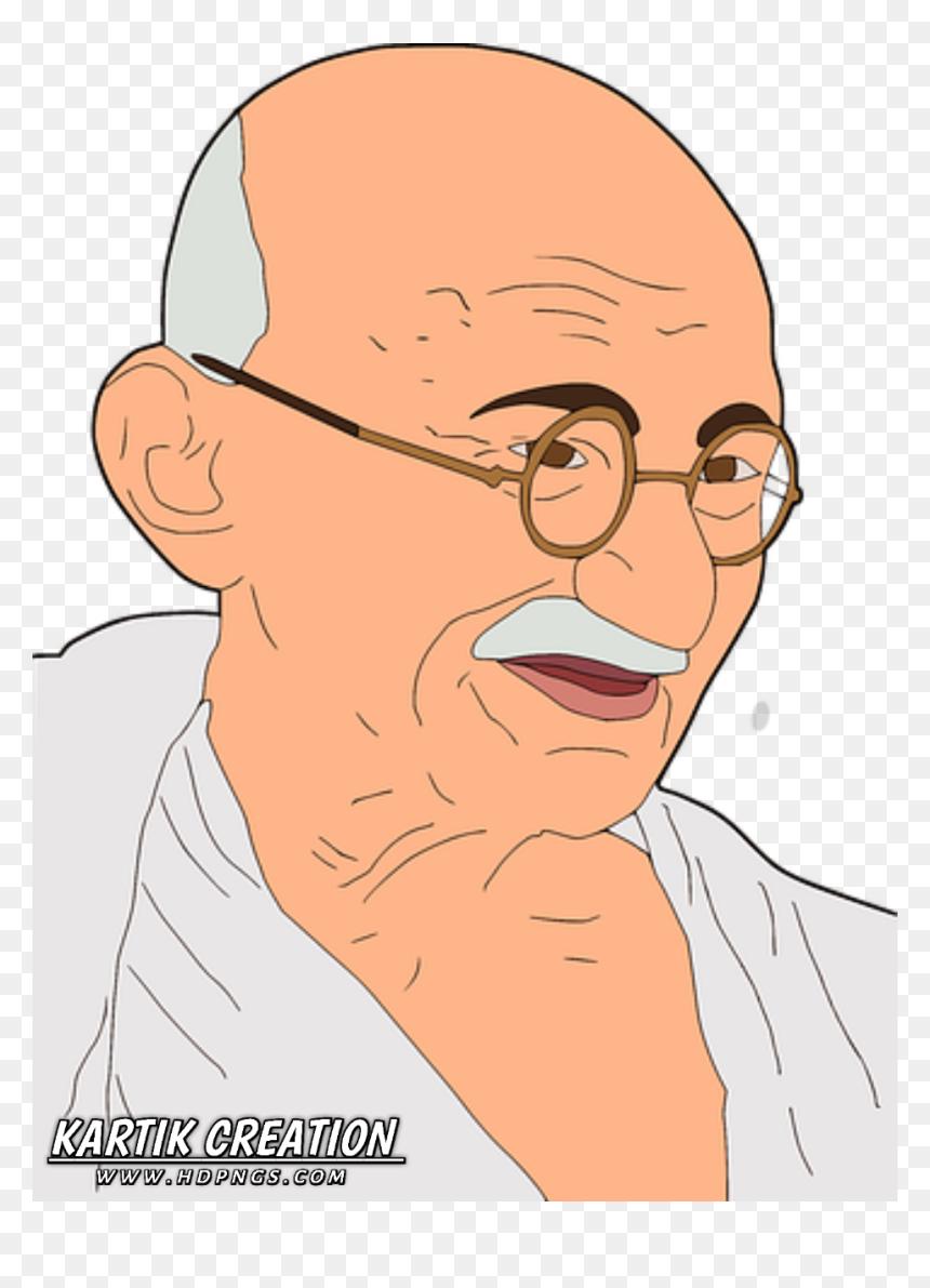 15 August Independence Day Wallpaper Hd Cartoon Image Of Mahatma Gandhi Hd Png Download Vhv