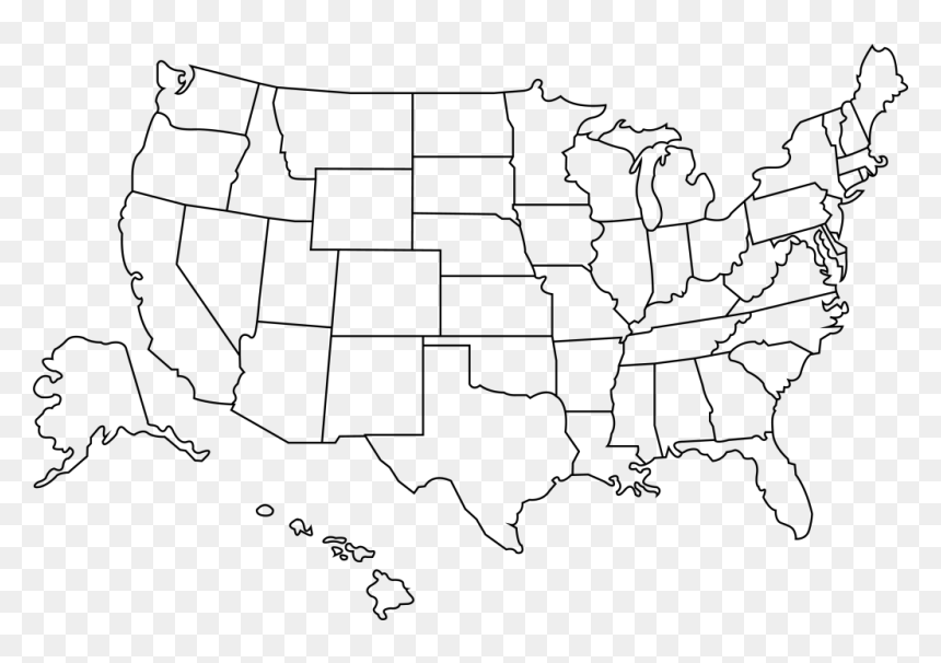 united states map outline png Outline Of The United States Transparent Us Map Outline Hd Png
