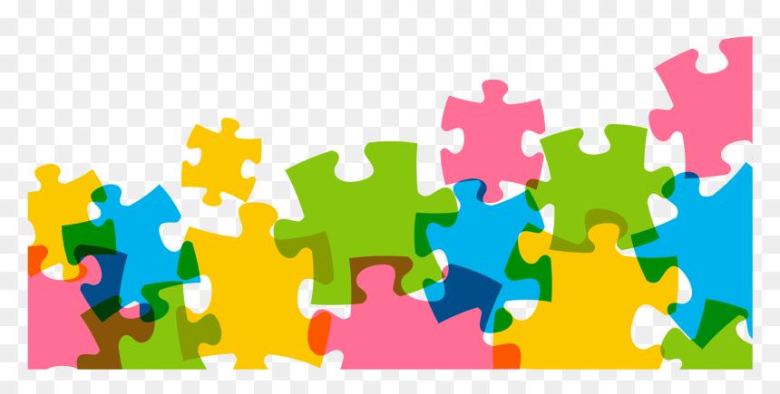 Jigsaw Puzzle Color - Puzzle Piece Border Png, Transparent ...