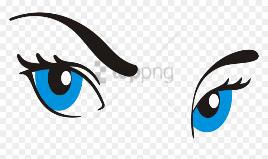 Free Png Download Cartoon Eye With Eyebrow Png Images