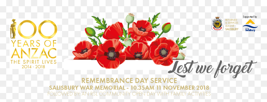 Remembrance Day Service And Rsl Community Open Day 100 Years Of Anzac Hd Png Download Vhv