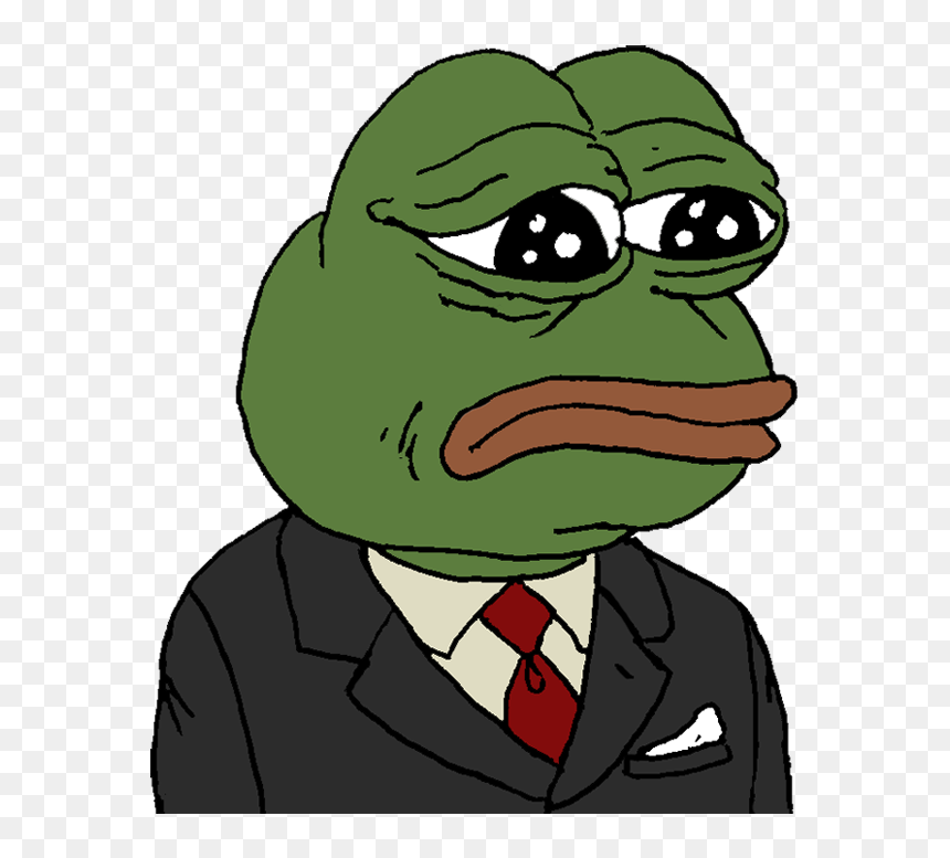 Sad Pepe Head Png Pepe The Frog In A Suit Transparent Png Vhv Pepe the frog flappy pepe internet 4chan, frog, leaf, animals, vertebrate png. sad pepe head png pepe the frog in a