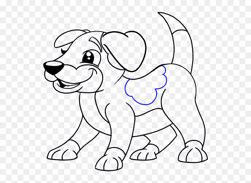 Transparent Cartoon Dog Bone Png Puppy Cartoon Dog Drawing Png