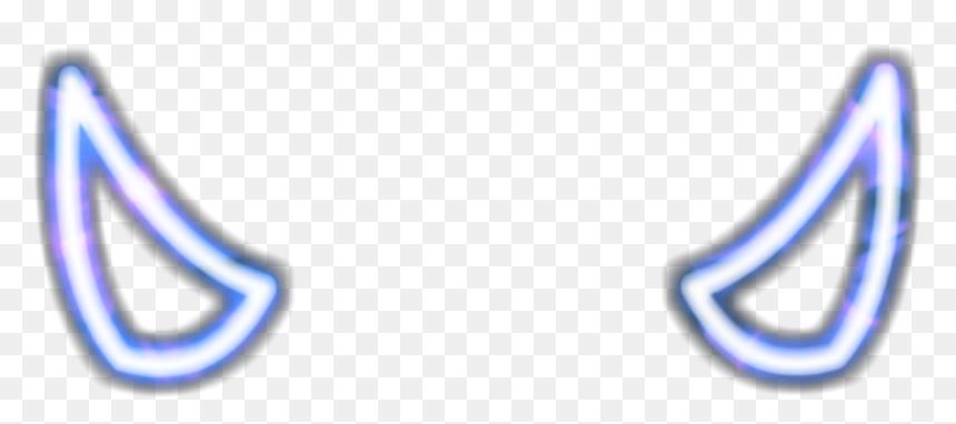 Blue Flaminghorn Horn Devil Horn Neon Glowing Neon Devil Horns Png Transparent Png Vhv