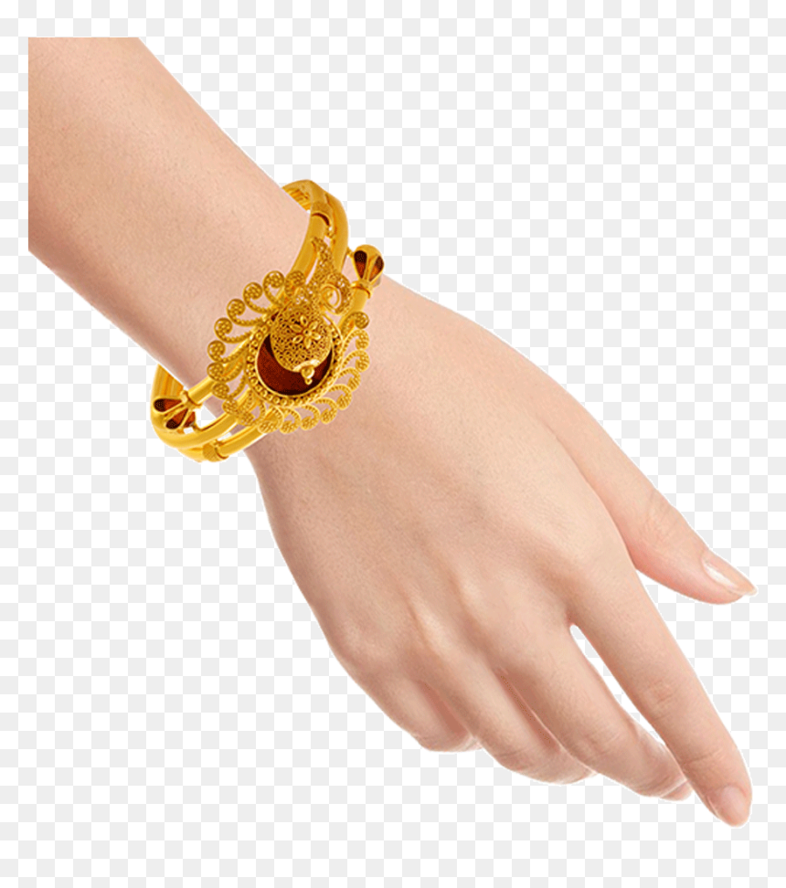 22kt Yellow Gold Bangle For Women Pc Chandra Jewellers Bangle Collection Hd Png Download Vhv