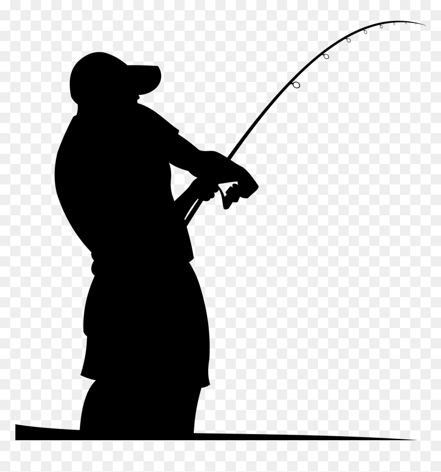 Fishing Rods Fisherman Silhouette Fishing Boat Silhouette Hd Png Download Vhv