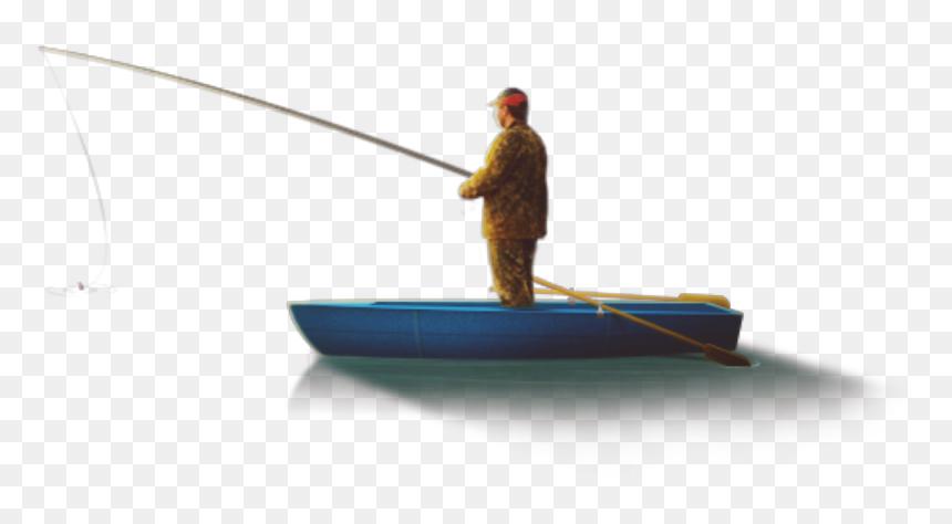 Download Transparent Man Fishing Png Boat Man Fishing Png Png Download Vhv