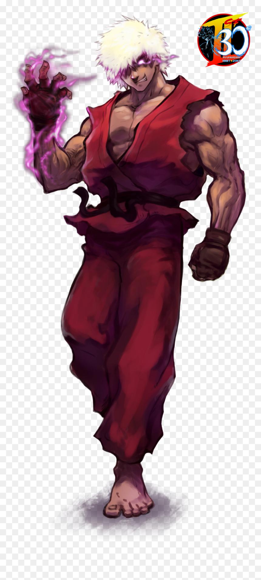 Transparent Evil Ryu Png Street Fighter Ken Fanart Png Download