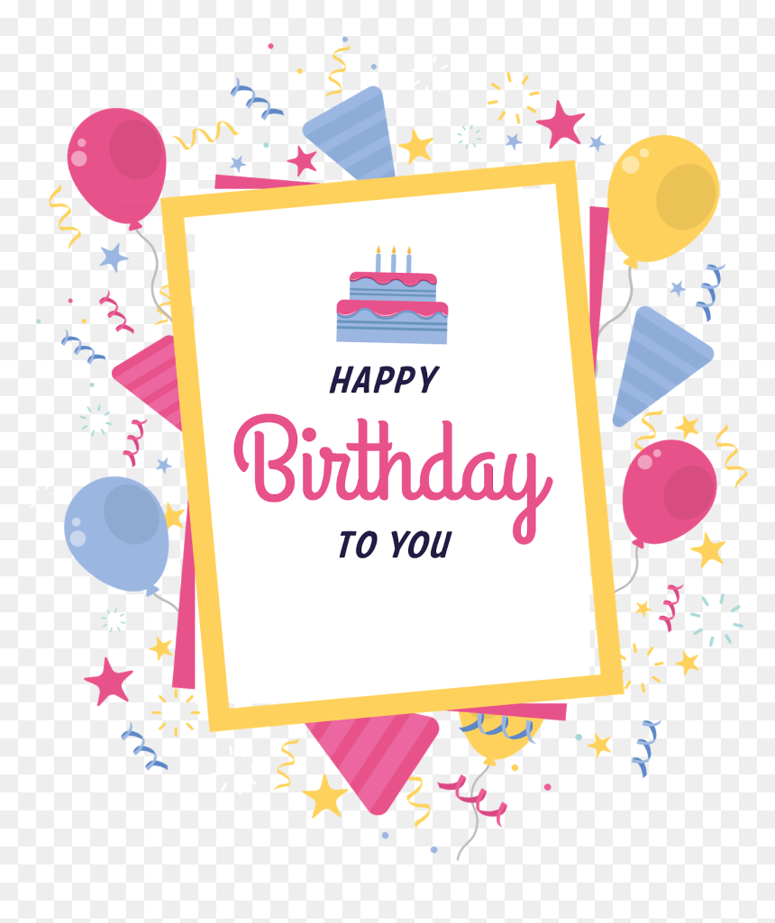 Birthday Cards Png - Happy Birthday Palak Thakur, Transparent Png
