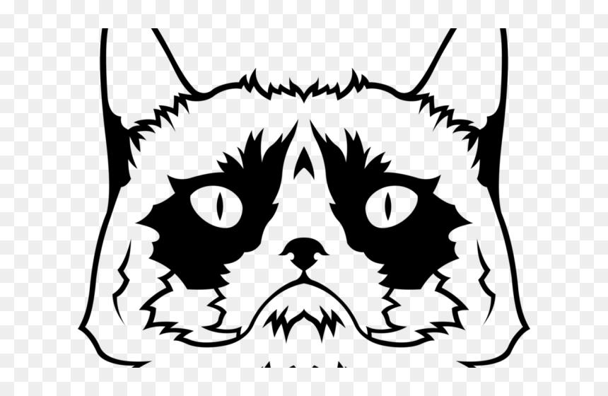 Grumpy Cat Clipart Png Png Download Grumpy Cat Svg Transparent Png Vhv