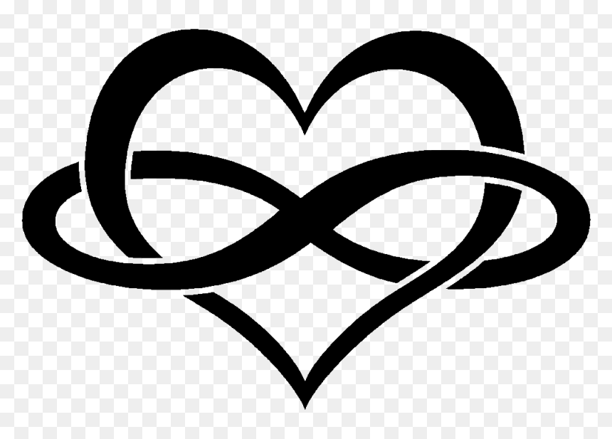 Persevere Heart Symbol Infinity Tattoo Free Download Infinity Heart Hd Png Download Vhv