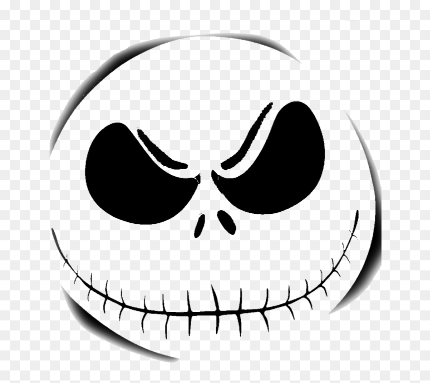 Jack Skellington Pumpkin Template Hd Png Download Vhv