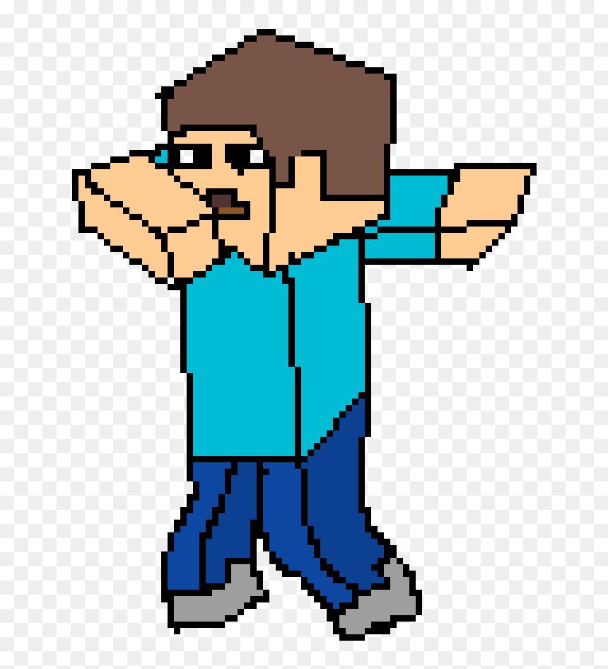 I Tried To Draw Minecraft Steve Dabbing Minecraft Steve Pfp