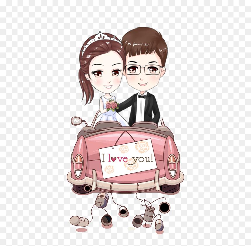 Bride Couple Marriage Cartoon Wedding Free Clipart Hd Png Download Vhv