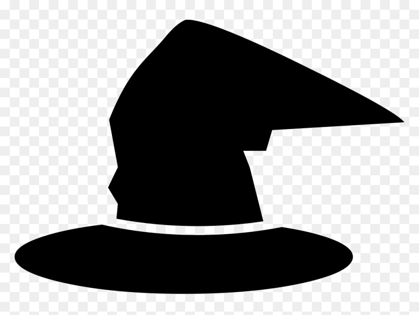 Witch Traditional Hat Wizard Hat Silhouette Hd Png Download Vhv