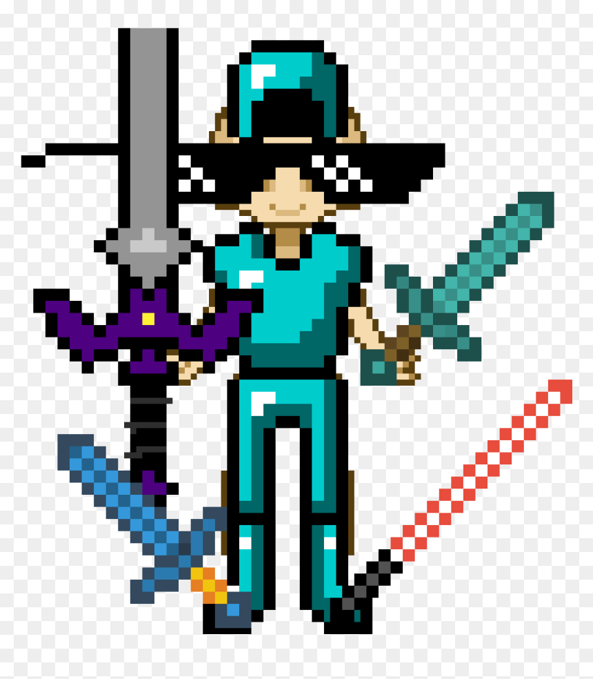 Such A Boss Minecraft Diamond Sword And Armor Hd Png Download Vhv
