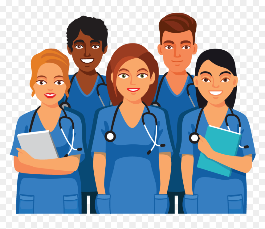 Nursing Team Clipart Male And Female Nurse Clipart Hd Png Download Vhv