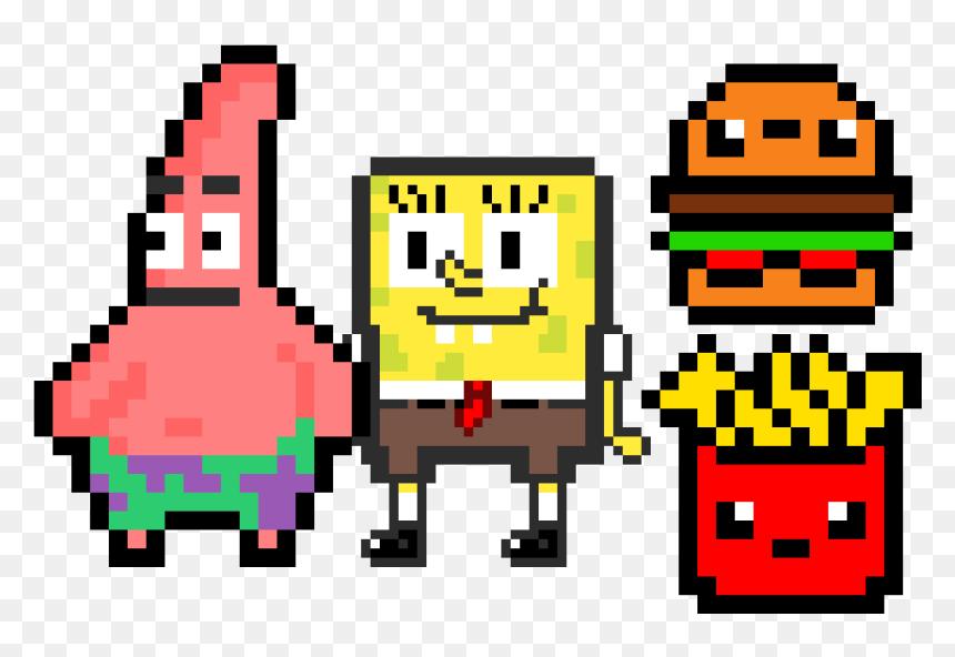 Spongebob And Patrick Png Download Patrick Spongebob Pixel Art Transparent Png Vhv