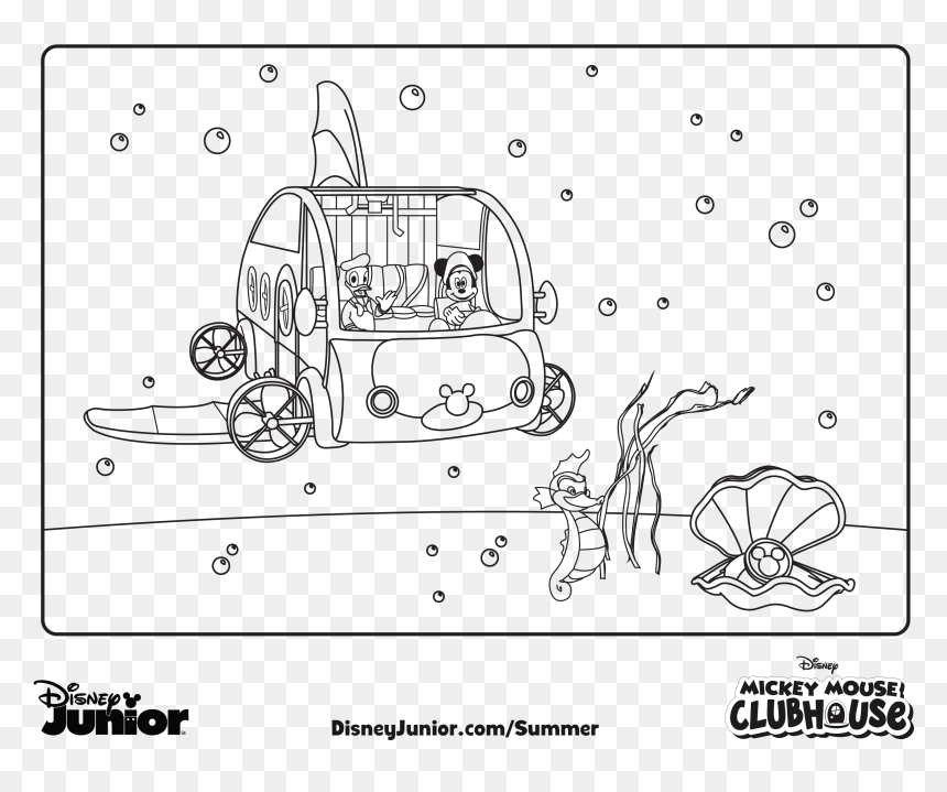- Mouse Clubhouse Coloring Pages Mickey - Mikey Mouse Club House Drawing, HD  Png Download - Vhv