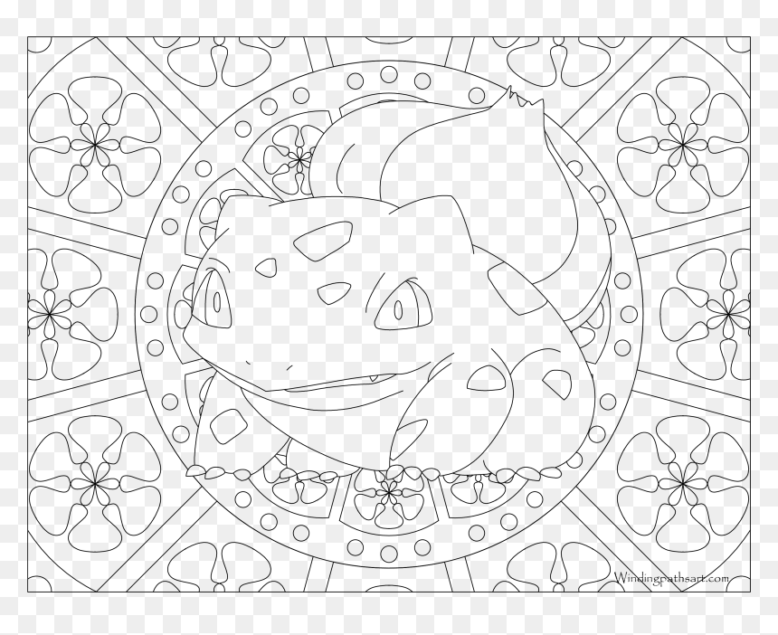 Drums Clipart Colouring Page Pokemon Coloring Pages Bulbasaur Hd Png Download Vhv