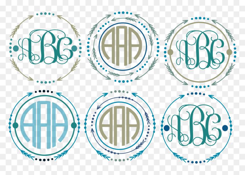 Arrow Monogram Frames Svg Cut File Svg Monogram Circle Frame Hd Png Download Vhv