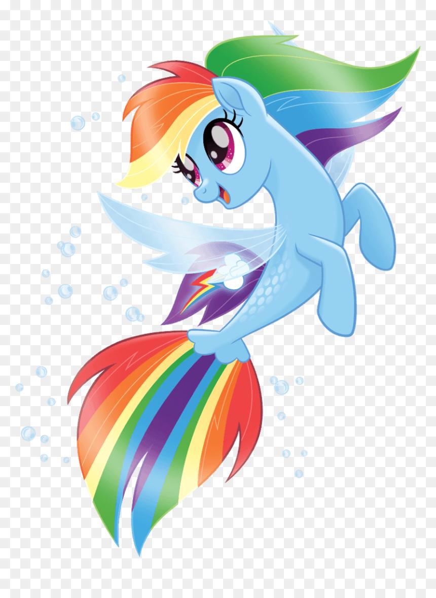 pony clipart rainbow dash  my little pony mermaid rainbow