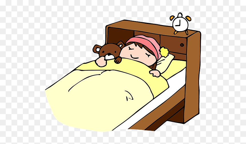 Child Girl Sleeping Clipart Bed Night Time Clipart Hd Png Download Vhv