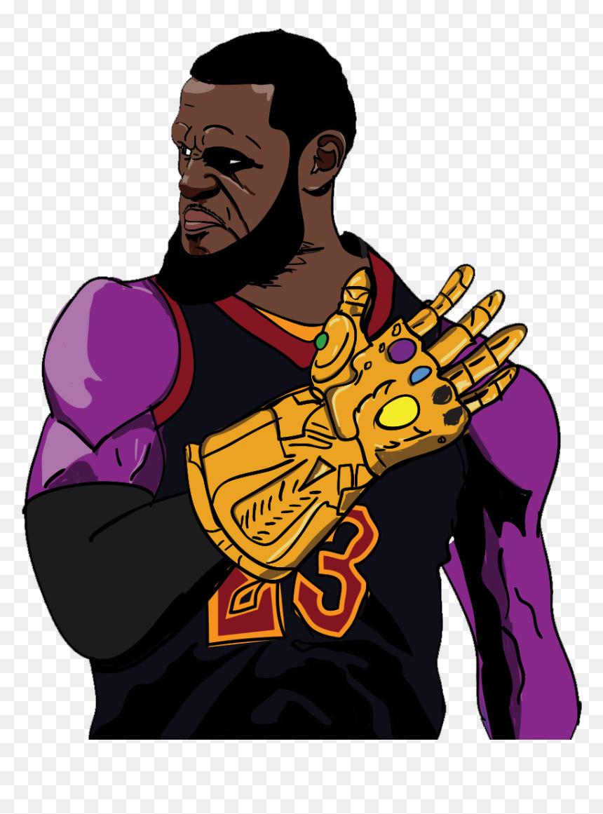 Call Me Thanos James Lebron James Cartoon Art Hd Png Download Vhv