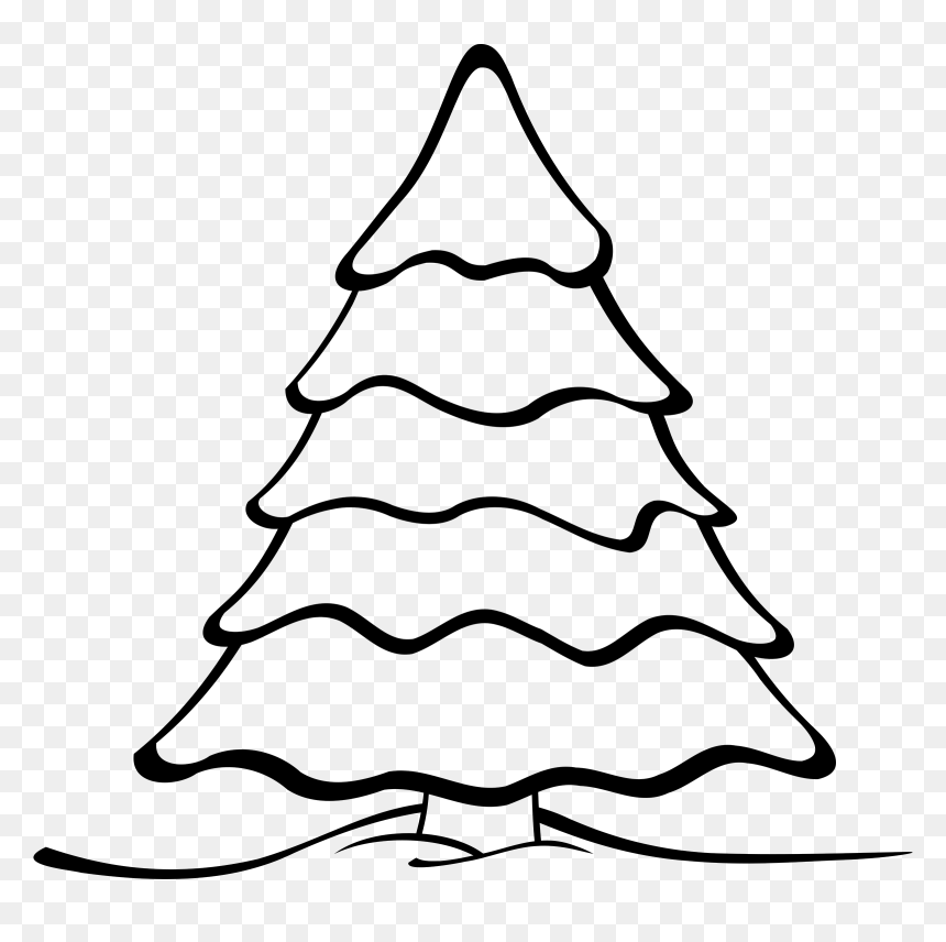 Printable Christmas Tree Coloring Pages For Kids | 856x860
