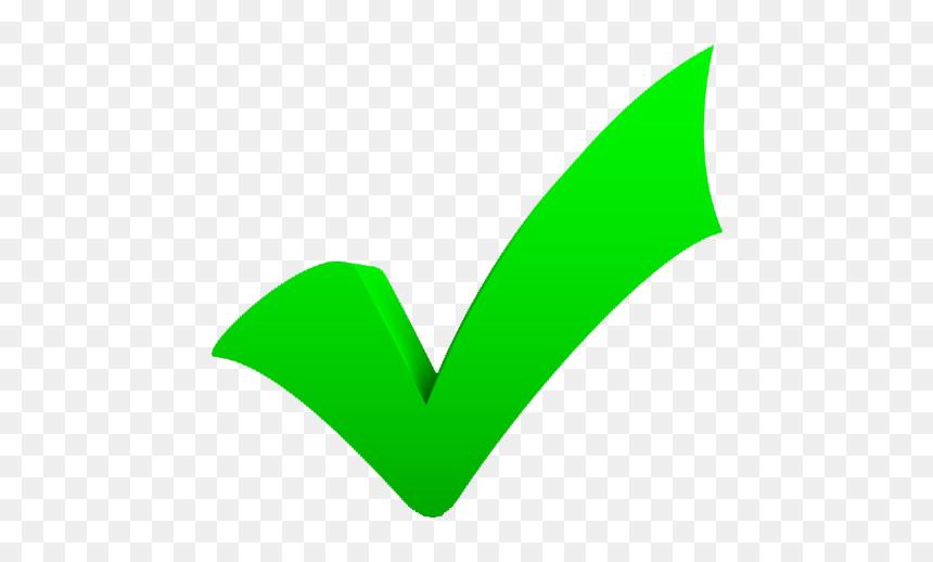 Big Green Check Mark Hd Png Download Vhv