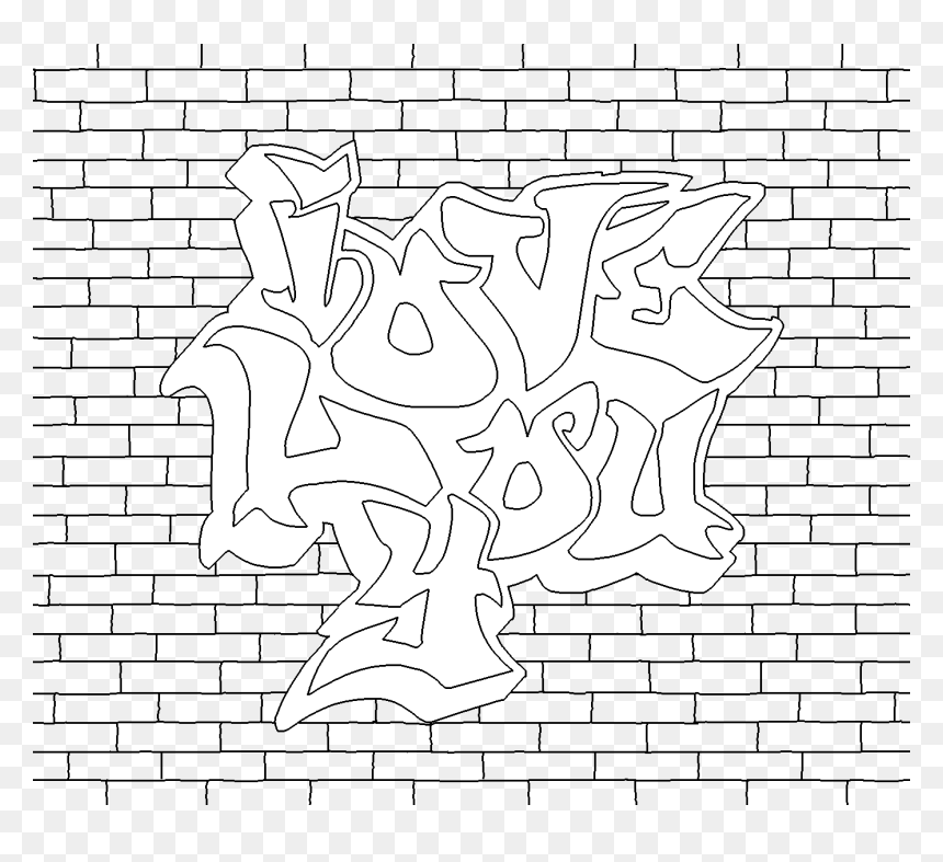 Graffiti Word Coloring Pages Graffiti Wall Art Colouring Pages Hd Png Download Vhv