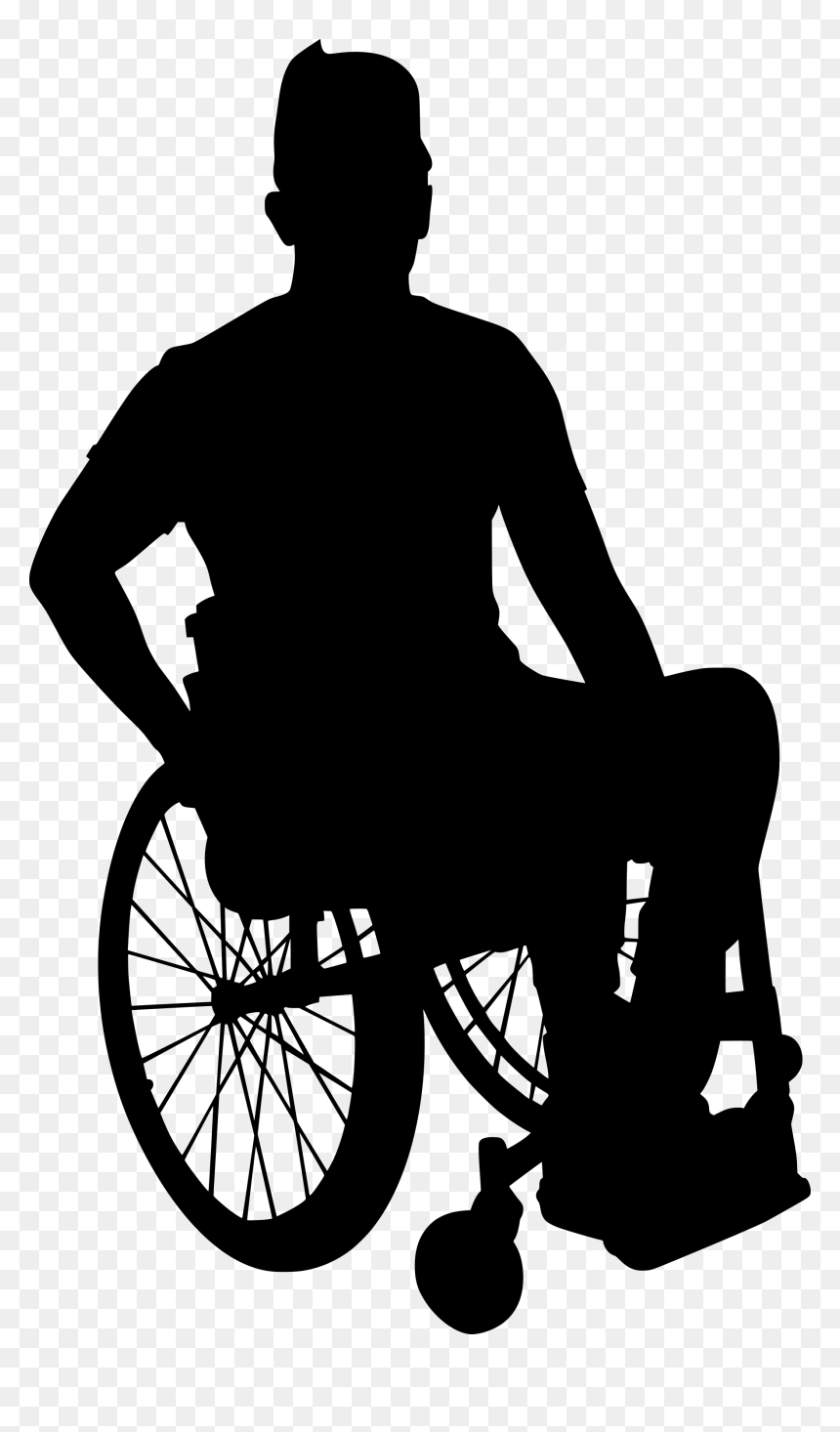 Wheelchair Png Disabled People Silhouette Png Transparent Png Vhv