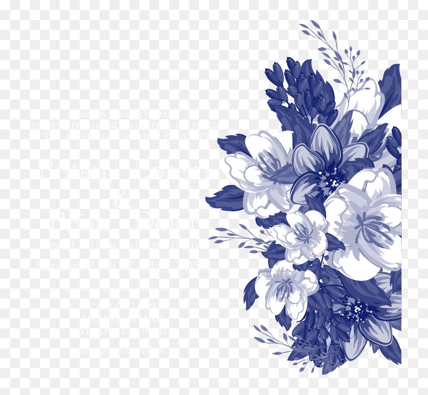 Blue Flower Wedding Invitations Vector Design Invitation Vector Blue Flower Png Transparent Png Vhv