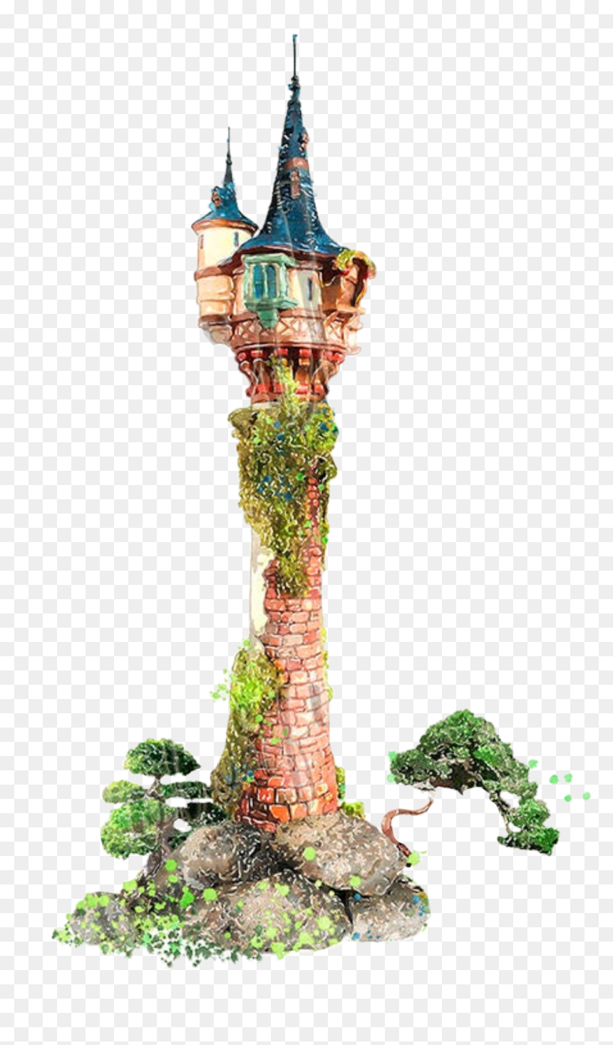Watercolor Tower Rapunzel Castle Princess Fantasy Transparent Rapunzel Tower Png Png Download Vhv