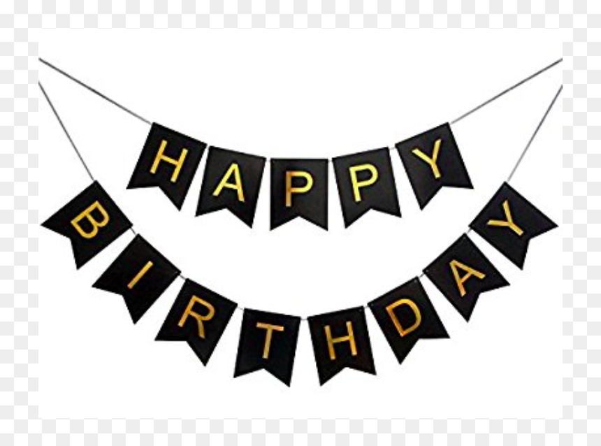 Happy Birthday Banner Clipart Black And White Clip Happy Birthday Wall Decorations Hd Png Download Vhv