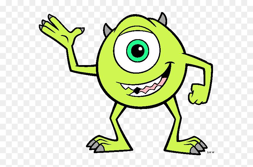 Mike Wazowski Eye Clip Art Mike Monster Inc Drawing Hd Png Download Vhv